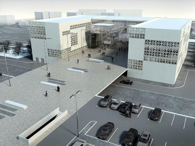 Politechnika Białostocka inwestuje w rozbudowę infrastruktury. Na zdjęciu wizualizacja biblioteki.
