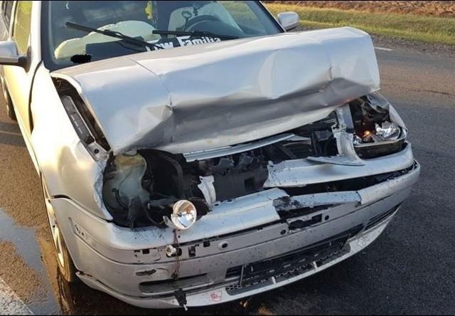 Zderzenie dwóch aut na drodze krajowej 57. 12 września 2019