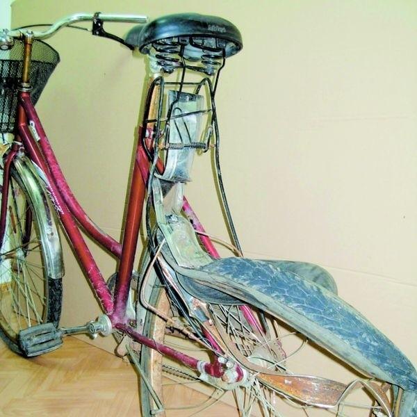Tak wyglądał rower 41-latka, który zginął w poniedziałek w wypadku