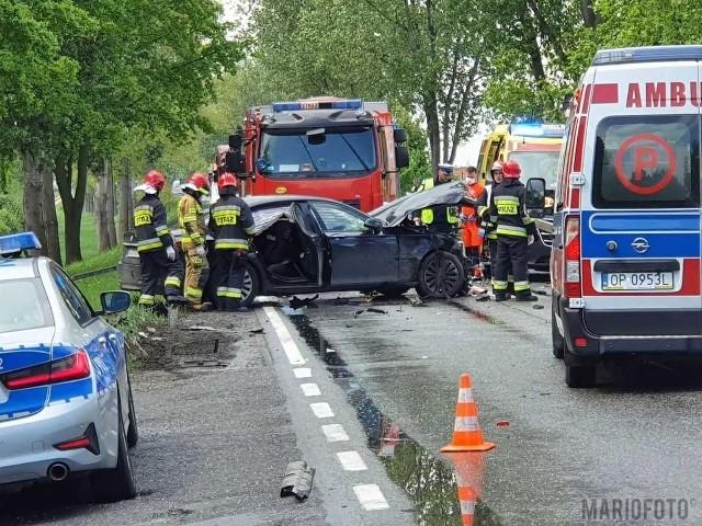 Groźny wypadek na trasie Opole - Kluczbork.