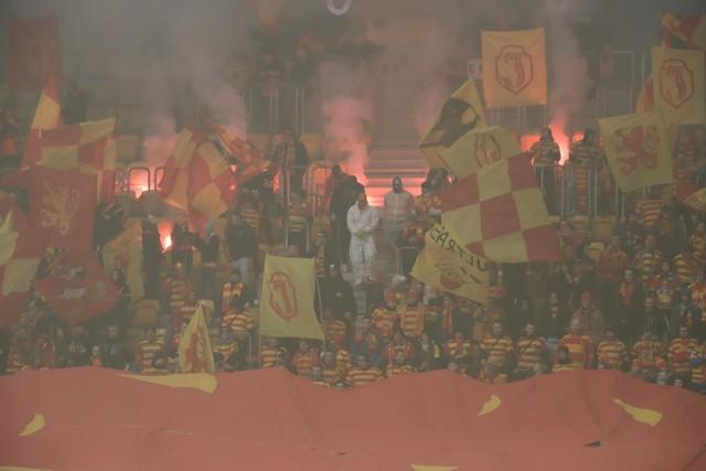 Kibice na meczu Jagiellonia Białystok - Korona Kielce