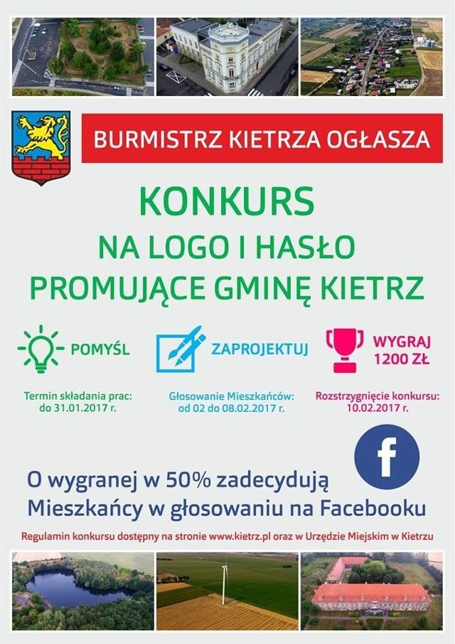Do 31 stycznia do godziny 15.30 można zgłaszać projekty logotypów oraz propozycje haseł, które będą promować gminę Kietrz.