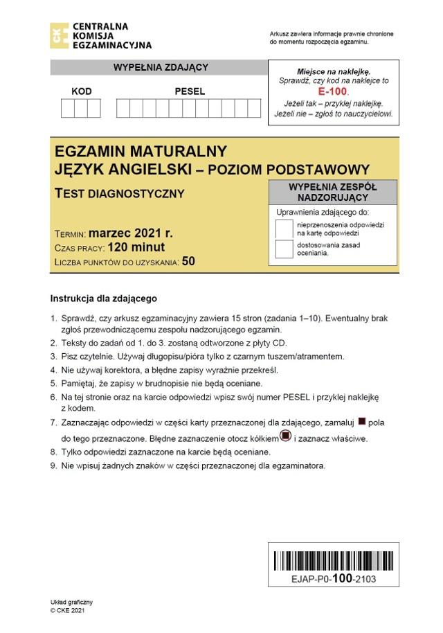 Próbna matura z angielskiego 5.03.2021 - ODPOWIEDZI(materiał będzie aktualizowany po egzaminie)