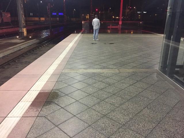 Dach Dworca Głównego nie wytrzymał poniedziałkowej ulewy. Kałuże pojawiły się m.in. na peronach i w holu głównym