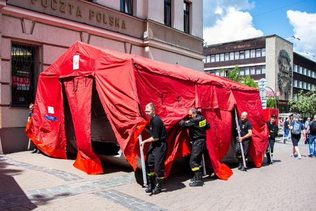 W piątek na Krupówkach rozstawiony został już namiot, gdzie w weekend będą odbywały się szczepienia