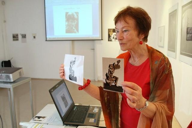 Anna Jung-Wojciechowska żona i modelka, pierwowzór pomnikowej postaci Biruty z odnalezionym w Niemczech modelem kieleckiego pomnika.