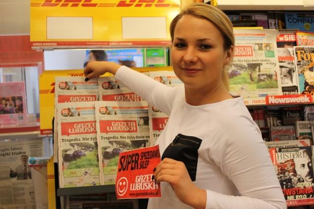 Daria Kaźmierczak prowadzi salonik Inmedio w Międzyrzeczu. Brała udział w zeszłorocznej edycji plebiscytu. W jej saloniku panuje miła i przyjazna atmosfera. Można tu wypić kubek pysznej kawy, a nawet coś przekąsić, przeglądając strony gazety. SMS o treści DSKLEP.23 na nr 72355.