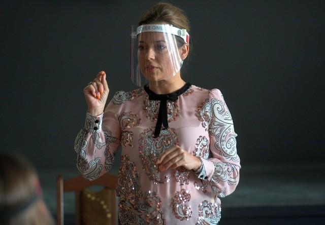 Jeden z wykładów na warsztatach filmowych prowadziła aktorka, Anna Mucha.