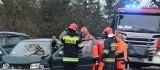 Wypadek w Kobylnikach pod Inowrocławiem. Wśród rannych małe dziecko