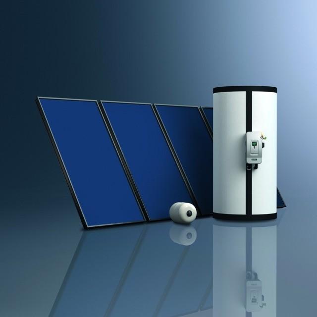 Zestaw solarnyZestaw solarny można wykorzystać do ogrzewania wody użytkowej oraz  wspomagania centralnego ogrzewania w domu. Istotnym parametrem kolektorów słonecznych jest sprawność. Zimą sprawność kolektorów słonecznych płaskich znacznie spada. W naszej strefie klimatycznej dużo lepszym rozwiązaniem są kolektory rurowe. Nie są one tak wrażliwe, jak kolektory płaskie, na spore różnice temperatury między otoczeniem a czynnikiem roboczym.