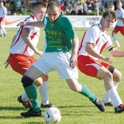 Supraślanka (zielona koszulka) zagra z Lechią II Gdańsk