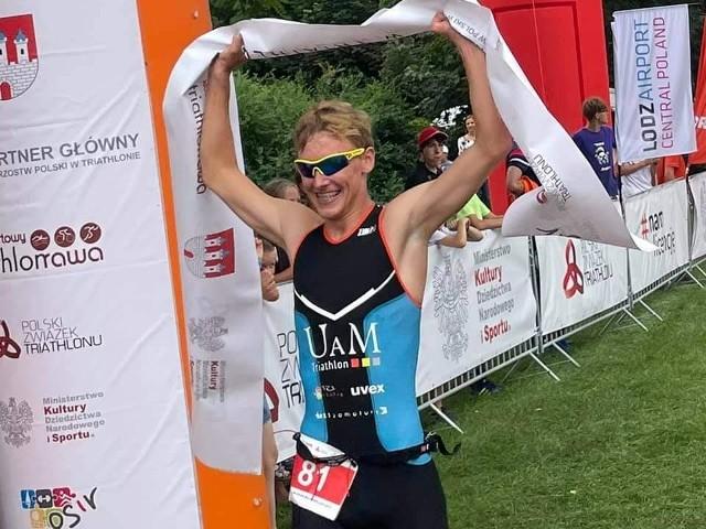 Jednym z bohaterów w ekipie AZS UAM Triathlon Poznań był Filip Glapa, który wygrał MP po raz trzeci z rzędu