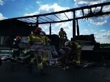 Gigantyczny korek na AOW po poważnym pożarze. Drogowcy: Omijajcie obwodnicę!
