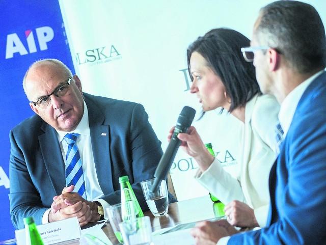 Od lewej: Tadeusz Kościński, wiceminister rozwoju; Monika Constant, dyrektor generalna Polsko-Francuskiej Izby Gospodarczej; Jarosław Grobelny, wiceprezydent Gniezna