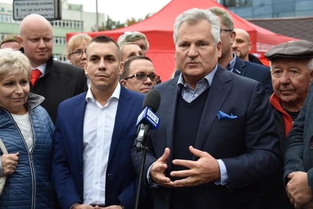 Aleksander Kwaśniewski, były prezydent Polski z wizytą w Sosnowcu
