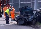 Tragiczny wypadek na A1 w Gliwicach. Auto roztrzaskało się na barierkach. Kierowca zginął na autostradzie w kierunku Ostrawy