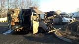 Mysłowice: Spłonęło pięć samochodów dostawczych. Czy ktoś je podpalił?