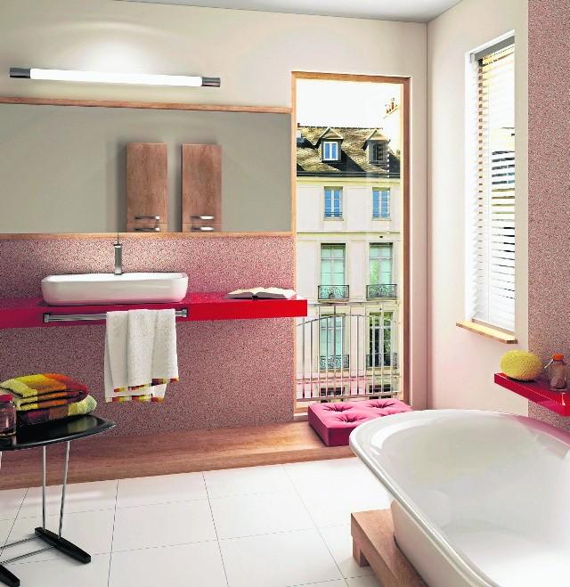 Tynk mozaikowy można potraktować we wnętrzu jako materiał czysto dekoracyjny