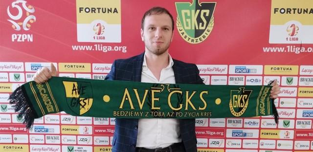 Łukasz Włodarek w Jastrzębiu pracuje od maja 2019 roku. Najpierw był trenerem asystentem.