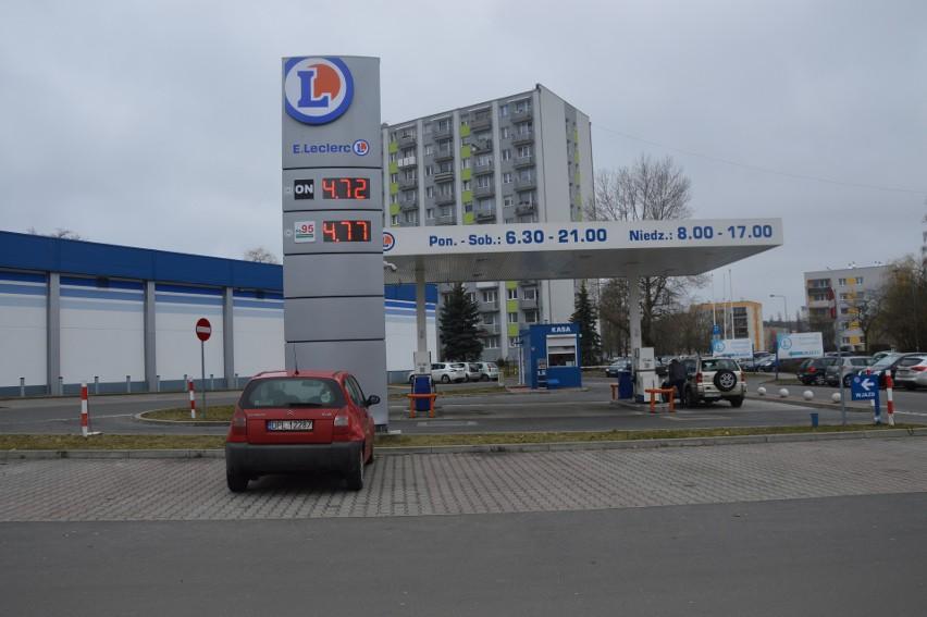 Stacja E.Leclerc przy ul. Wyszyńskiego...
