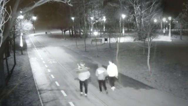 Kamery miejskiego monitoringu uchwyciły mężczyznę, który szedł wraz z kolegami, a na ramieniu niósł znak drogowy. Sprawca został zatrzymany.ZOBACZ ZDJĘCIA, czytaj więcej na kolejnych slajdach