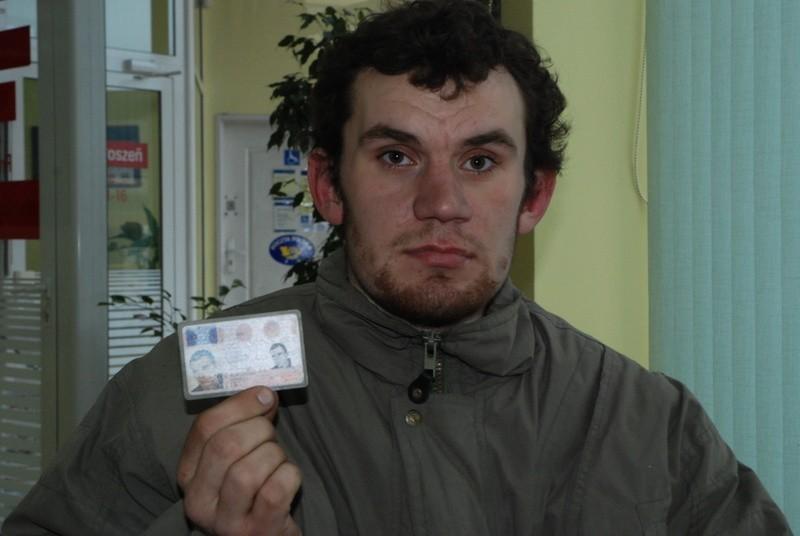 Janusz Burchacz, 28-latek spod Wejherowa odzyskał prawo jazdy.