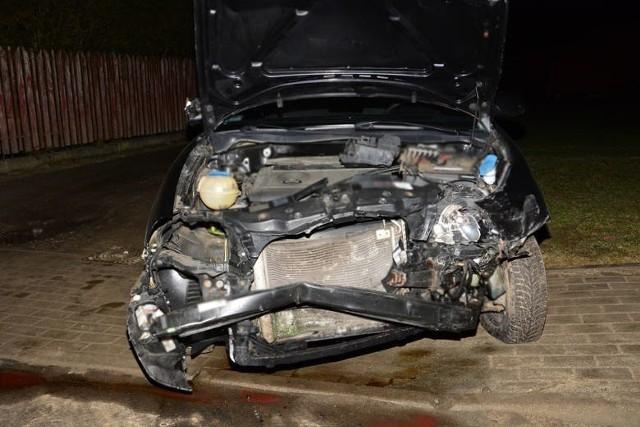 Tak wyglądał po wypadku jeden z samochodów.