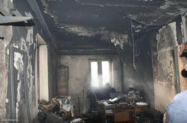 Tak wyglądało biura GOPS po ataku podpalacza.
