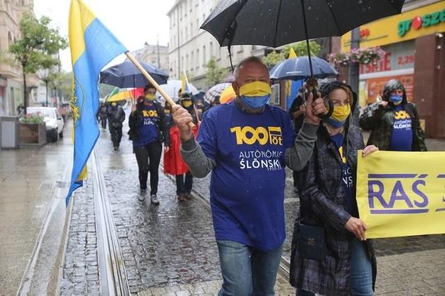 Marsz Autonomii Śląska w Katowicach - 11 lipca 2020 r.