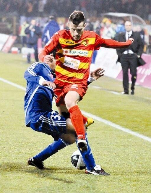 Maciej Makuszewski był wyróżniającym się graczem Jagi w meczu z Sokołem