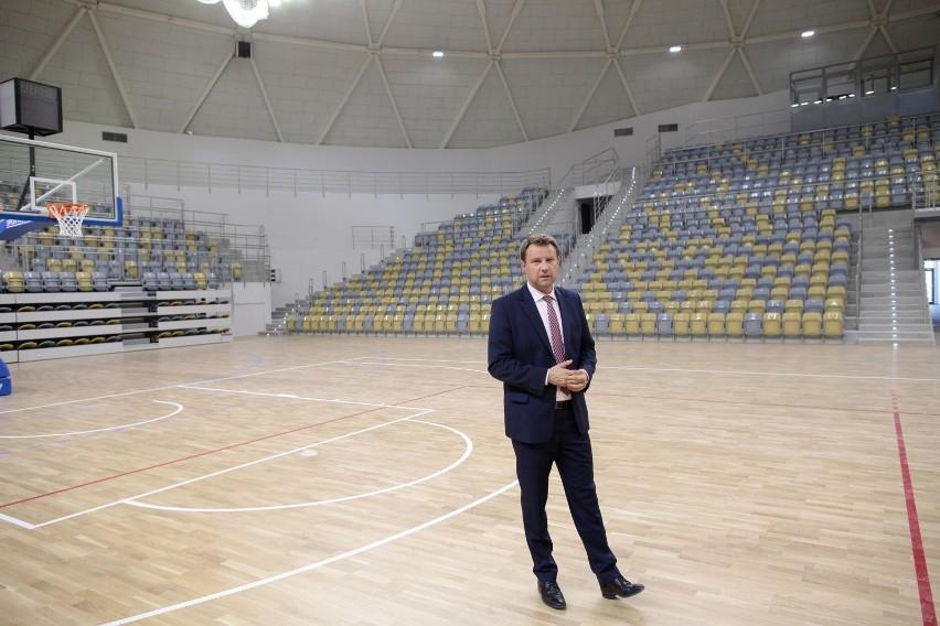 Arkadiusz Wiśniewski w hali Okrąglak.