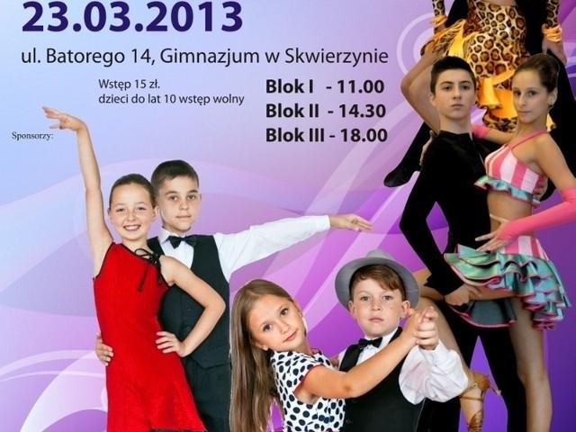 W sobotę, w sali gimnastycznej Zespołu Edukacyjnego w Skwierzynie odbędzie się IV Ogólnopolski Turniej Tańca Towarzyskiego.