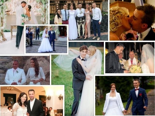 Wiosna i lato to tradycyjnie najlepszy moment na ślub. Wielu sportowców właśnie w maju, czerwcu i kolejnych wakacyjnych miesiącach decyduje się wstąpić w związek małżeński. Sprawdź, jak prezentowali się w tych pięknych dniach i... jak przez lata zmieniała się ślubna moda.