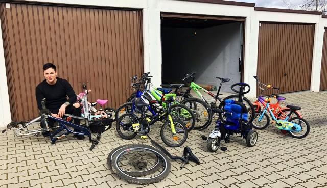 Radny Damian Żurawski z Sosnowca zbiera od mieszkańców niepotrzebne rowery. Te po odnowieniu trafią do dzieci z Domów Dziecka i potrzebujących