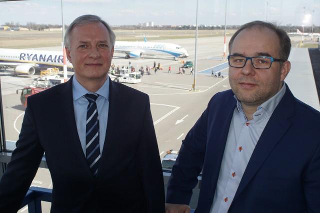 Mariusz Wiatrowski (z lewej) i Grzegorz Bykowski zapewniają, że Ławica wciąż będzie się rozwijała