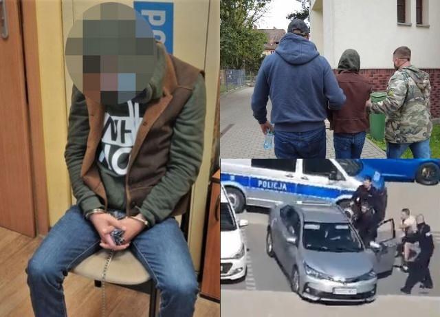 Zatrzymany w Szczecinie Gruzin jest już we Wrocławiu i usłyszał zarzuty popełnienia kilku przestępstw.