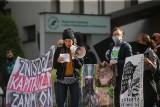 """Protest ekologów w Katowicach. Są przeciw wycinkom w Bieszczadach i na Pogórzu Przemyskim. """"Nie oddamy Bieszczad piłom"""""""