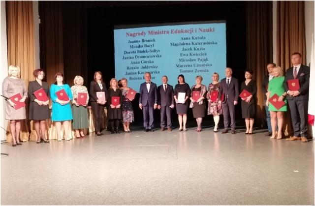 Nauczyciele, którzy otrzymali Nagrody Ministra Edukacji Narodowej.