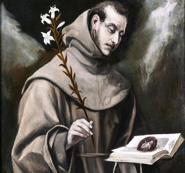El Greco: Święty Antoni z Padwy.