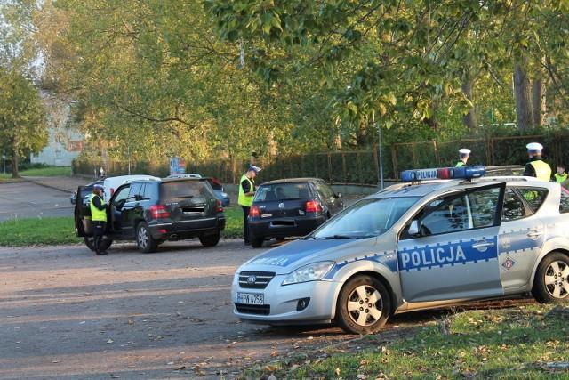 Policyjne kontrole w Koszalinie.