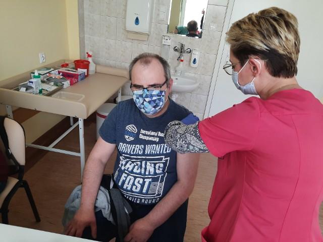 Szczepienia w PSP w szpitalu w Choroszczy.