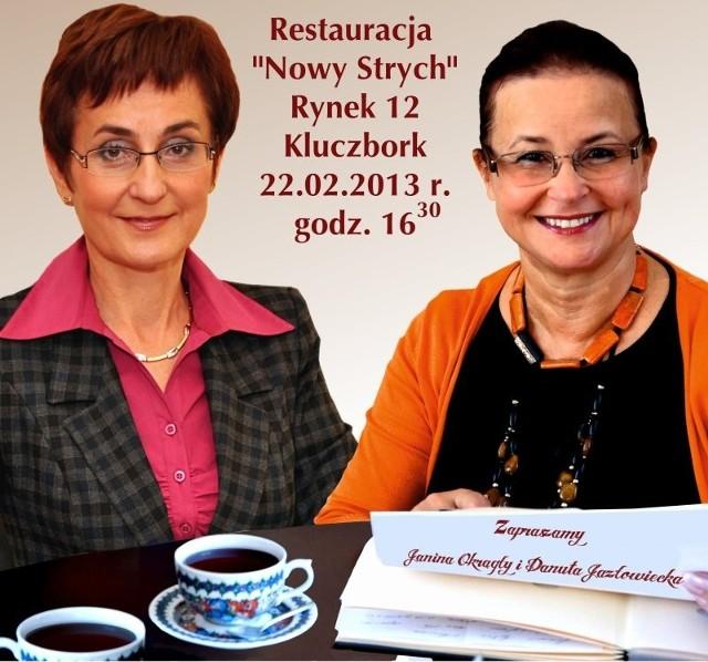 Od lewej: Janina Okrągły i Danuta Jazłowiecka