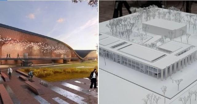 Władze województwa i miasta miały wspólnie wybudować Centrum Muzyki na Grzegórzkach (projekt po lewej). Miasto teraz zamierza jednak samodzielnie zrealizować inwestycję w Cichym Kąciku (projekt po prawej).