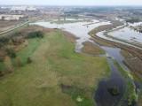 Zdjęcia rzeki Widawy która wylała we Wrocławiu