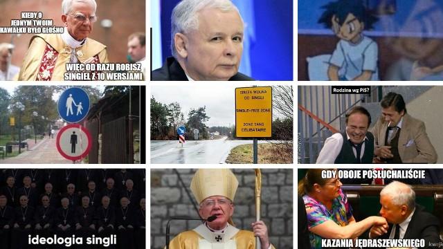Memy o ideologii singli, a w nich metropolita krakowski Marek Jędraszewski oraz... Jarosław Kaczyński z kotem. To z tego śmieją się internauci! Sprawdź! >>