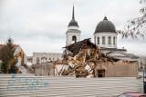 Białystok. Wyburzają budynek parafialny przy Cerkwi Św. Mikołaja [ZDJĘCIA]