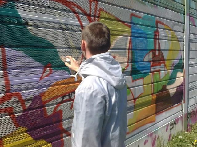 Na gorzowski 66-400 Graffiti Jam Session przyjechał m.in. Michał z Barlinka