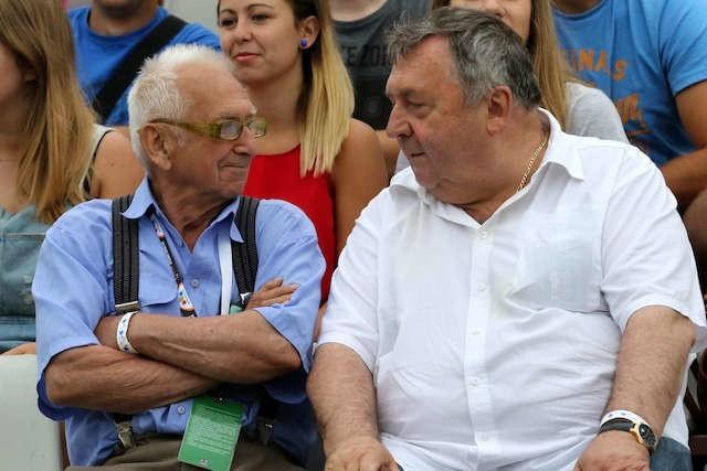Władysław Gollob i Witold Skrzydlewski (właściciel Orła Łódź) wspólnie obserwowali niedzielne zawody