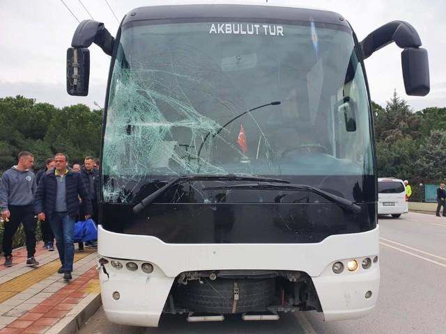 Tak wyglądał autokar piłkarzy PGE Stali Mielec po wypadku
