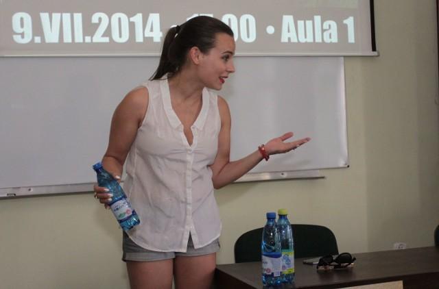 W środę w Radomiu aktorka Anna Mucha mówiła o pracy na planie filmowym.
